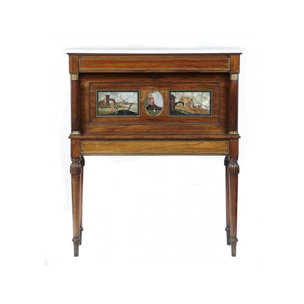 BRASS MOUNTED ROSEWOOD WRITING CABINET Image