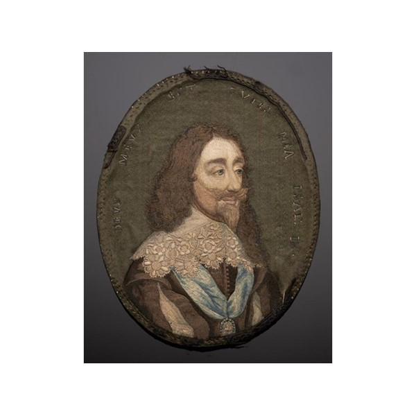 EMBROIDERED MINIATURE OF CHARLES I Image