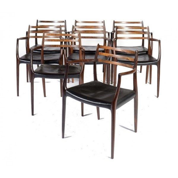 SET OF EIGHT DANISH ROSEWOOD CHAIRS Image