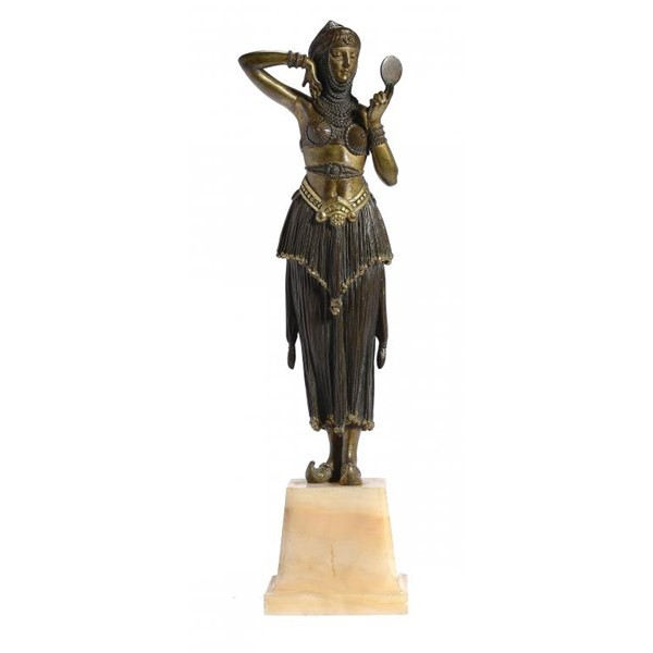 DEMETRE CHIPARUS. BRONZE FIGURE OF WOMAN Image